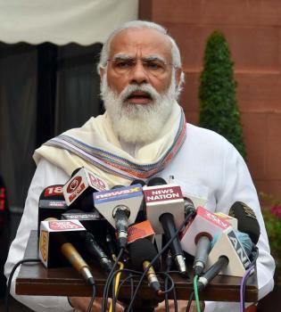 प्रधानमंत्री, श्री नरेंद्र मोदी संसद के मानसून सत्र से पहले मीडिया को संबोधित कर रहे थे।