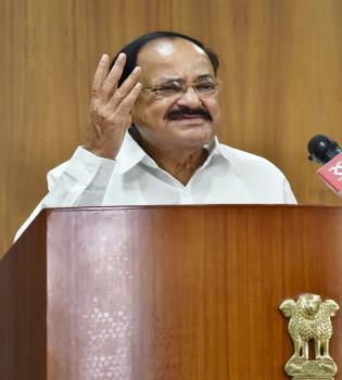 उपराष्ट्रपति, श्री एम। वेंकैया नायडू  ऑनलाइन ग्लोबल आयुर्वेद शिखर सम्मेलन के उद्घाटन पर, वस्तुतः अपना संबोधन देते हुए।